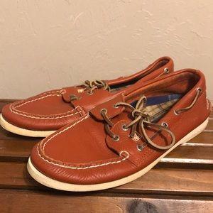 Burnt Orange Sperry Top-Sider boat shoes